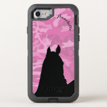 Heart Horses I (pink camo II) OtterBox Defender iPhone 8/7 Case