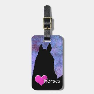 Heart Horses I (purple/blue) Luggage Tag