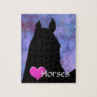Heart Horses I (purple) Puzzle