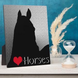 Heart Horses I Red Heart (silver metallic) Plaque