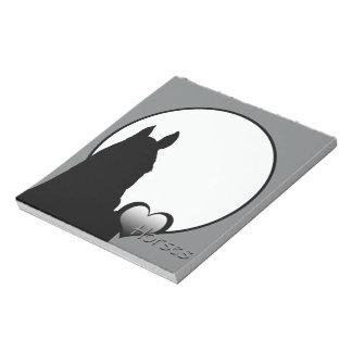 Heart Horses I (silver heart) Notepad