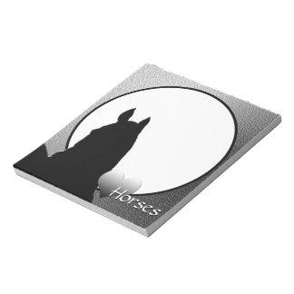 Heart Horses I Silver Heart (silver metallic) Notepad