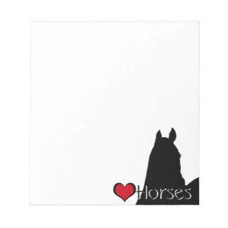 Heart Horses I (white background) Notepad