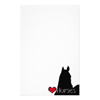 Heart Horses I (white background) Stationery