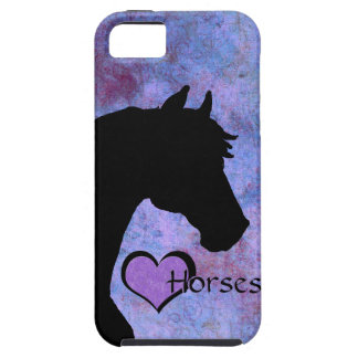 Heart Horses II (purple) iPhone SE/5/5s Case