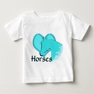 Heart Horses III (aqua) Baby T-Shirt