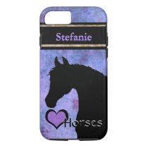 Heart Horses III Customizable (purple/blue) iPhone 8/7 Case
