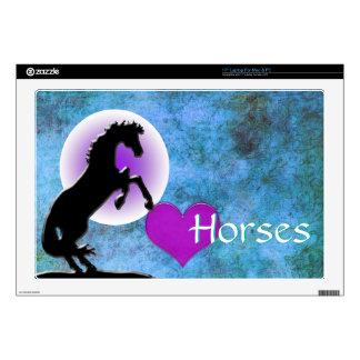 """Heart Horses V (blue/green) Skin For 17"""" Laptop"""