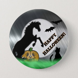 Heart Horses V Halloween Button