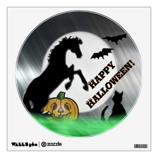 Heart Horses V Halloween Wall Decal