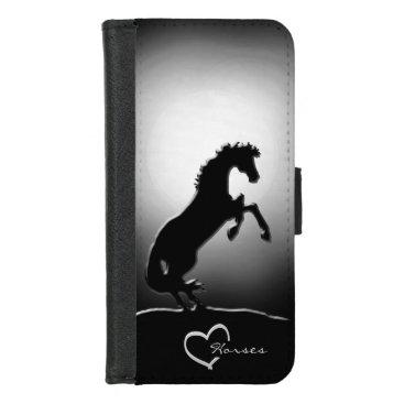Heart Horses V (hazy moon) iPhone 8/7 Wallet Case