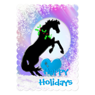 Heart Horses V Holiday (Colorful Haze) Card