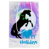Heart Horses V Holiday (Colorful Haze) Medium Gift Bag