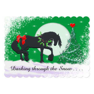 Heart Horses VI Holiday (Holiday Tree) Card