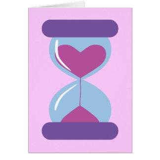 Heart Hourglass Greeting Card