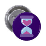 Heart Hourglass Pinback Buttons