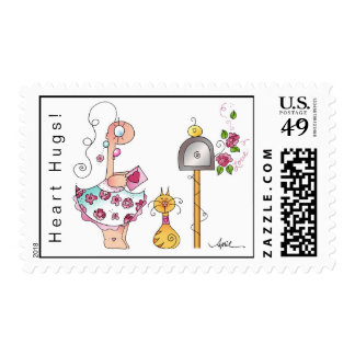 HEART HUG Breast Cancer Stamps