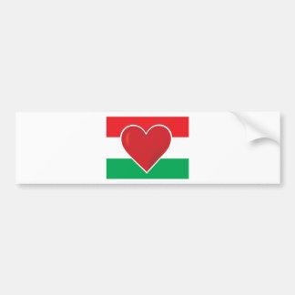 Heart Hungary Flag Bumper Sticker