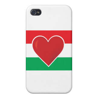 Heart Hungary Flag iPhone 4/4S Covers