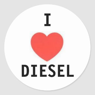 heart, I, DIESEL Classic Round Sticker