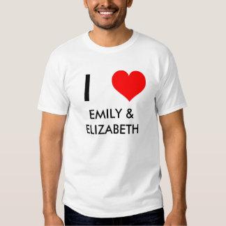heart, I, EMILY & ELIZABETH T-Shirt
