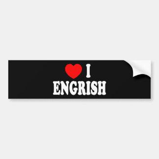Heart I Engrish Bumper Sticker
