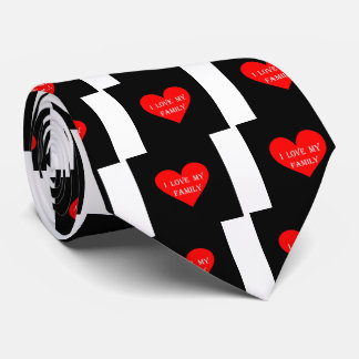 Heart I Love My Family Tie