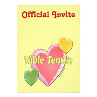 Heart I Love Table Tennis Announcements