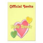 Heart I Love Table Tennis Announcements