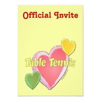Heart I Love Table Tennis Card
