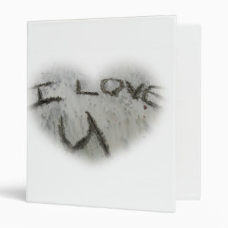 Heart I Love U In The Sand Avery Binder