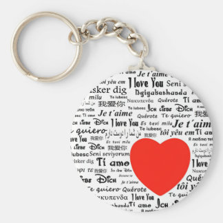 heart i love you basic round button keychain