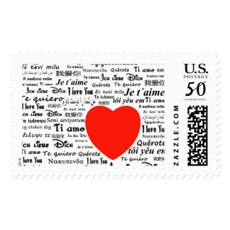 heart i love you postal stamps postage