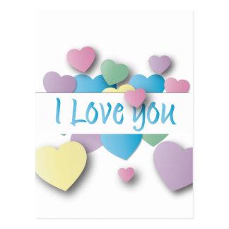 heart i love you postcard