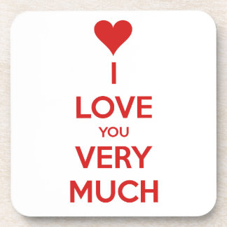 HEART I LOVE YOU SO MUCH SHOUTOUT SAYINGS COMMENTS COASTER