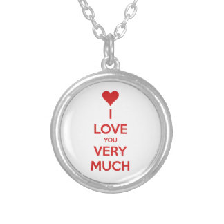 HEART I LOVE YOU SO MUCH SHOUTOUT SAYINGS COMMENTS CUSTOM NECKLACE