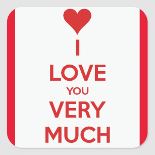 I Love You So Much Stickers Zazzle