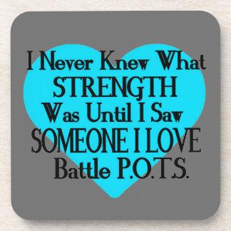 Heart/I Never Knew...Someone I Love...P.O.T.S. Coaster