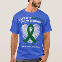 Heart I Wear Green For My Brother Cerebral Palsy T-Shirt