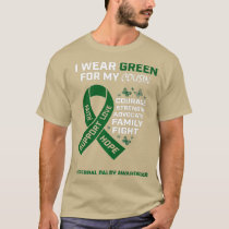 Heart I Wear Green For My Cousin Cerebral Palsy T-Shirt