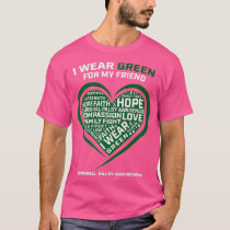 Heart I Wear Green For My Friend Cerebral Palsy T-Shirt