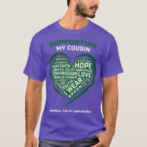 Heart I Wear Green Support Cousin Cerebral Palsy T-Shirt