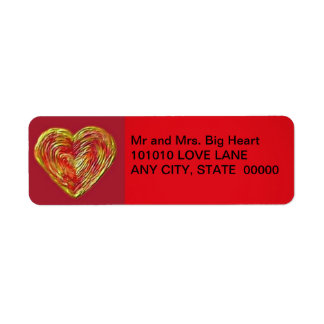 Heart Icing Label