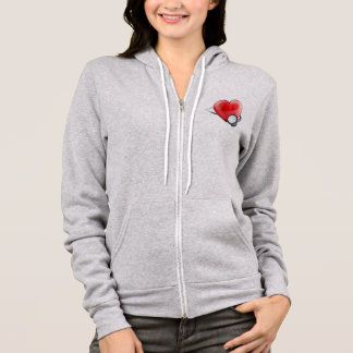 Heart Icon and Stethoscope Concept Hoodie
