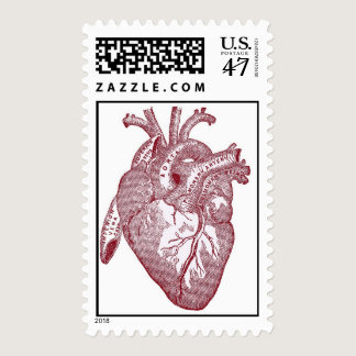Heart Illustration Postage