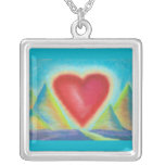 Heart image necklace