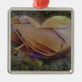 Heart Image Peachy Rose Ornament
