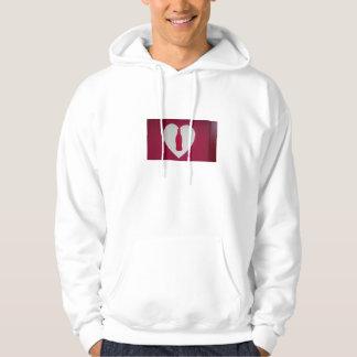 Heart in a Bottle Basic Hooded Sweatshirt, White Hoodie
