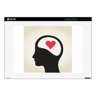 """Heart in a head 15"""" laptop skins"""