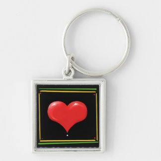 Heart in a Square - Keychain